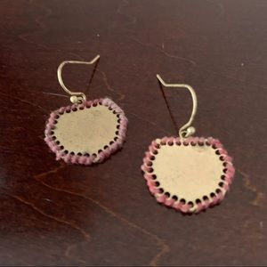 Target brushed gold tone minimalist coin earrings